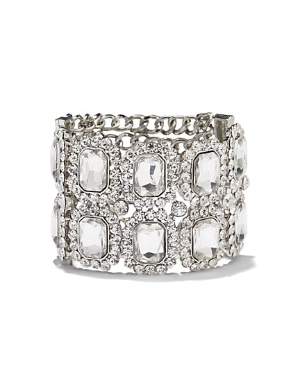 Glass Stone-Embellished Bracelet  - New York & Company