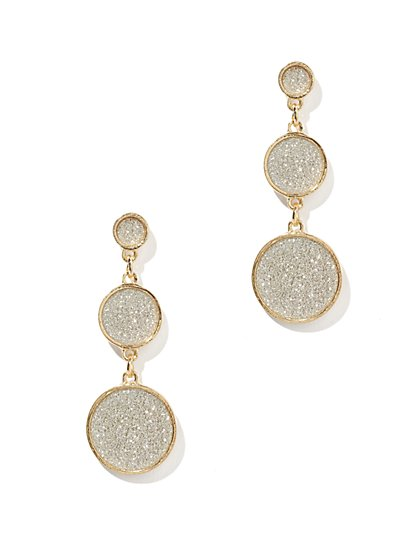 Glitter Disc Drop Earring - New York & Company