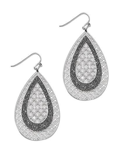 Glitter & Filigree Drop Earring  - New York & Company