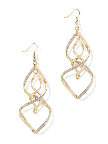 Glitter Spiral Drop Earring - New York & Company
