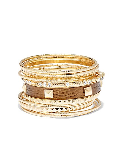 Glittering Bangle Set  - New York & Company