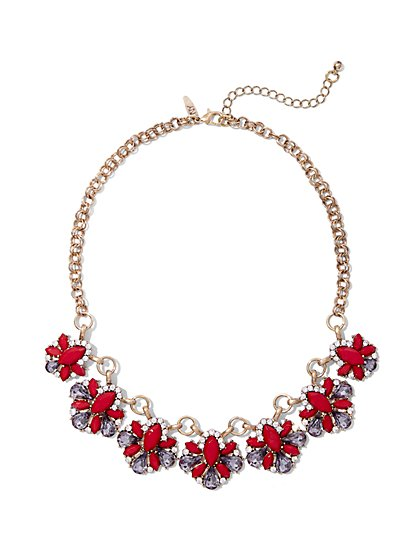 Glittering Beaded Collar Necklace  - New York & Company