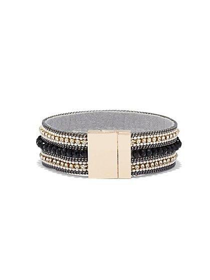 Glittering Chain-Link Cuff Bracelet  - New York & Company