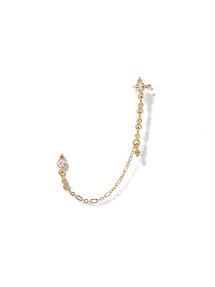 Glittering Chain-Link Ear Cuff  - New York & Company