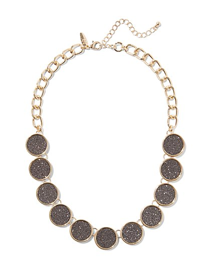 Glittering Circle Collar Necklace  - New York & Company