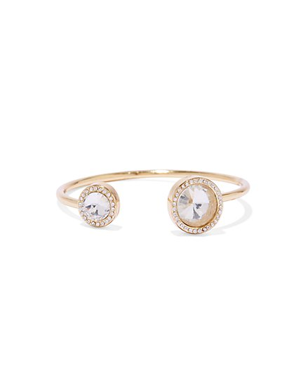 GlitteringCircleCuff Bracelet - New York & Company
