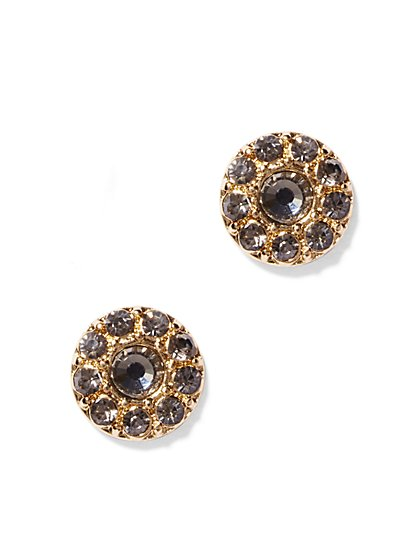 Glittering Circular Post Earring - New York & Company