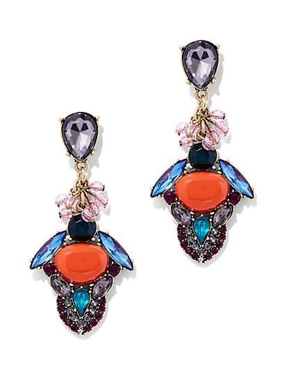Glittering Cluster Drop Earring  - New York & Company