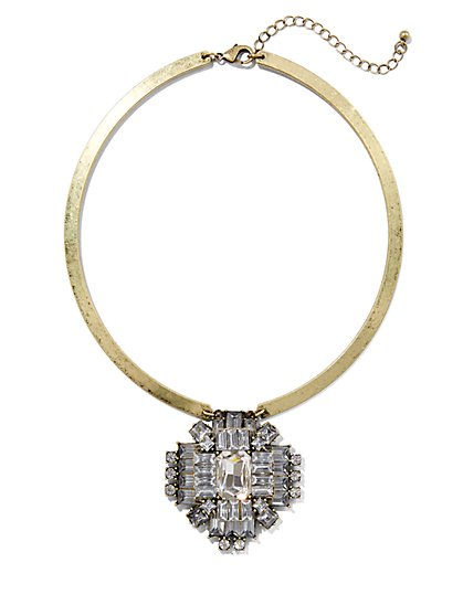 Glittering Collar Pendant Necklace   - New York & Company