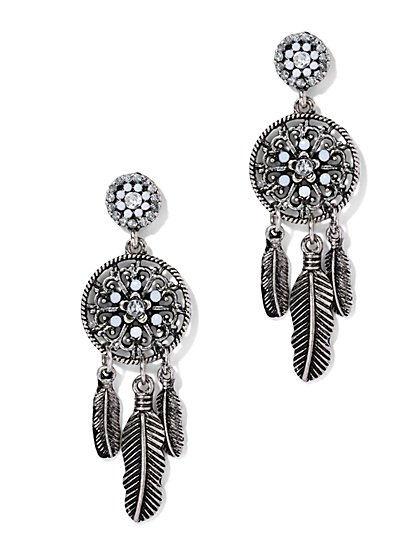 Glittering Dream Catcher Drop Earring  - New York & Company