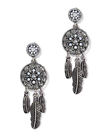 Glittering Dream Catcher Drop Earring  - New York & Company