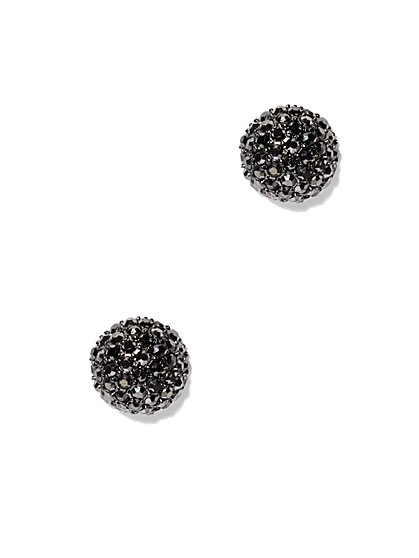 Glittering Druzy Post Earrings  - New York & Company