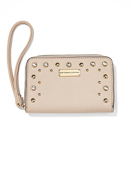 Glittering Faux-Leather Wallet  - New York & Company