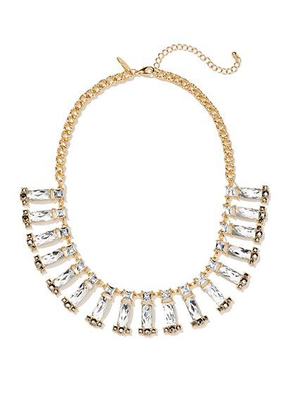 Glittering Faux-Stone Collar Necklace  - New York & Company