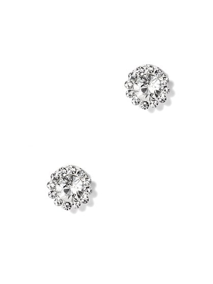 Glittering Faux-Stone Post Earring  - New York & Company