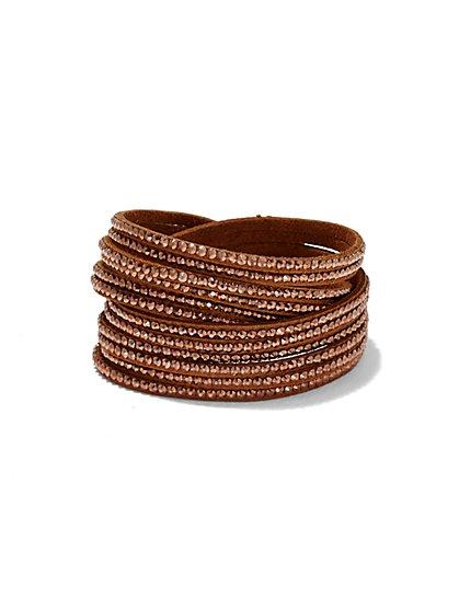 Glittering Faux-Suede Wrap Bracelet  - New York & Company