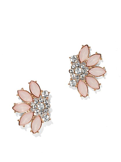 Glittering Floral Earring  - New York & Company