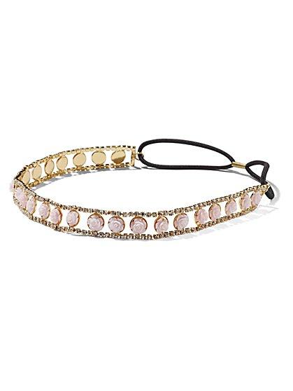 Glittering Floral Headband  - New York & Company