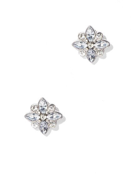 Glittering Floral Post Earring  - New York & Company