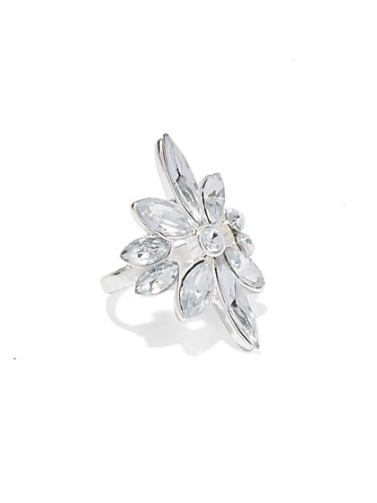 Glittering Floral Ring  - New York & Company