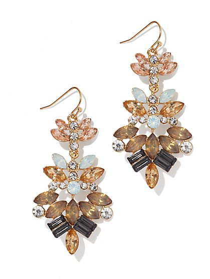 Glittering Goldtone Chandelier Earring  - New York & Company