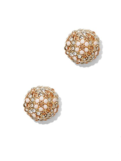 Glittering Goldtone Post Earring  - New York & Company
