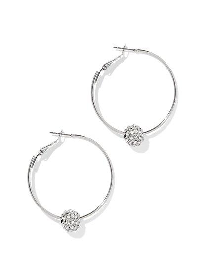 Glittering Hoop Earring  - New York & Company