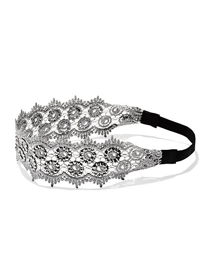 Glittering Lace Headband  - New York & Company