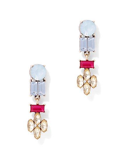 Glittering Linear Drop Earring  - New York & Company