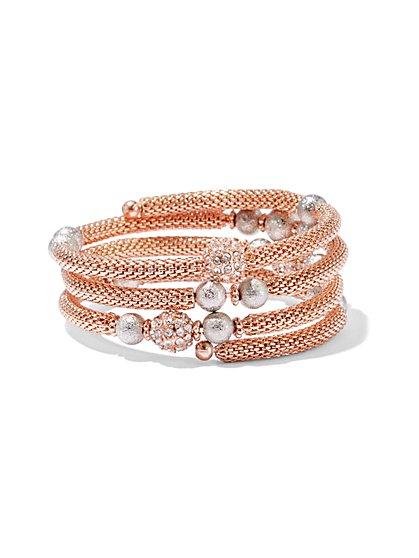 Glittering Mesh Coil Bracelet  - New York & Company