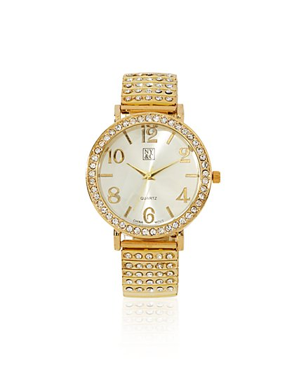 Glittering Metallic Expansion Watch  - New York & Company