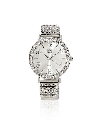 Glittering Metallic Expansion Watch  - New York & Company