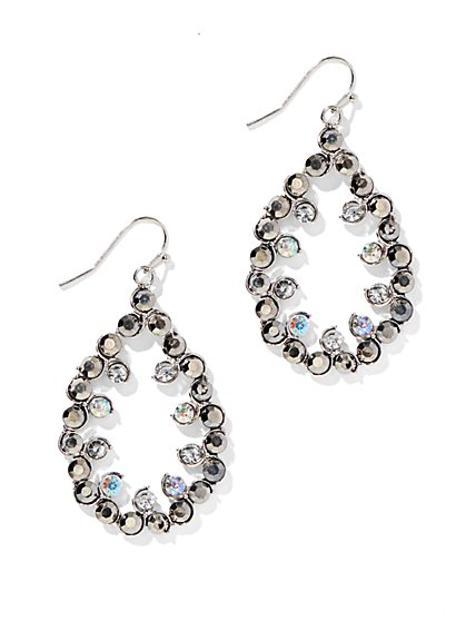 Glittering Open-Teardrop Earrings  - New York & Company