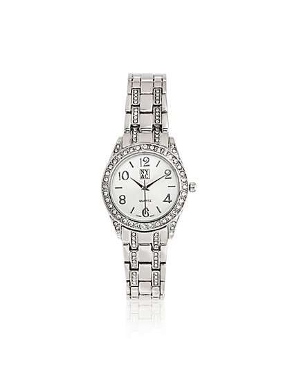 Glittering Pavé Link Watch  - New York & Company