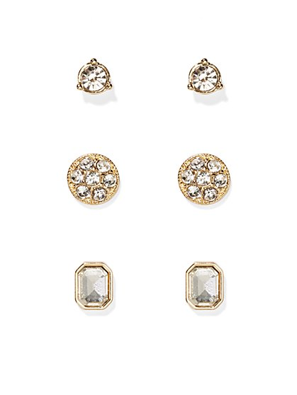 Glittering Post Earring Set  - New York & Company