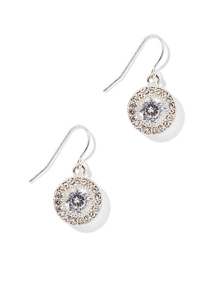 Glittering Round Drop Earring  - New York & Company