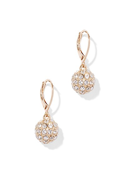 Glittering Spherical Drop Earring  - New York & Company