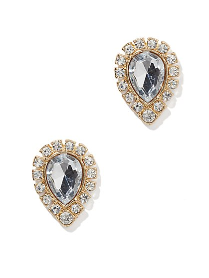 Glittering Teardrop Post Earring  - New York & Company