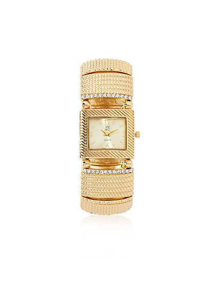 Glittering Textured Watch - New York & Company