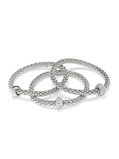 Glittering Three-Row Mesh Bracelet Set  - New York & Company