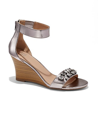 Glittering Wedge Sandal  - New York & Company