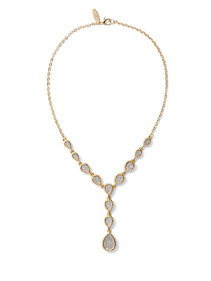 Glittering Y-Shaped Necklace - New York & Company