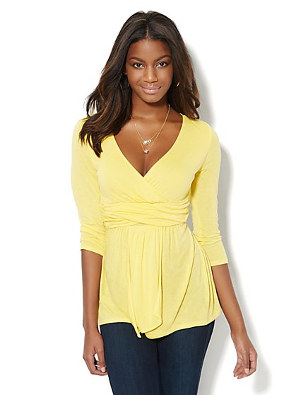 Goddess Wrap Top - New York & Company