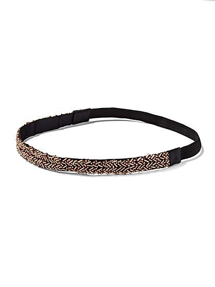 Gold Beaded Headband  - New York & Company