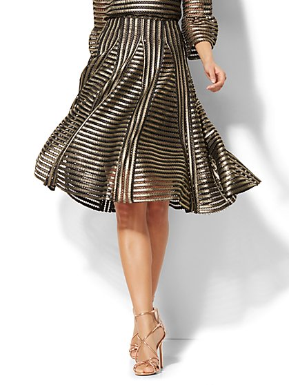 Gold Mesh Skirt - New York & Company