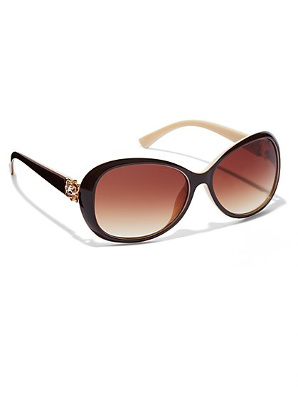Golden-Accent Sunglasses - New York & Company