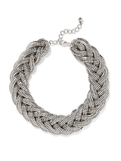 Golden Braided Necklace - New York & Company