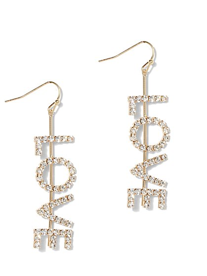 Golden Disc Chandelier Earrings - New York & Company
