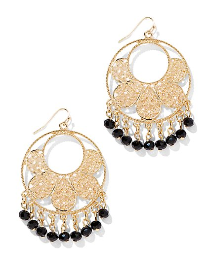 Golden Filigree Circle Earring - New York & Company