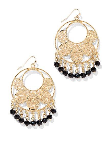 Golden Filigree Circle Earring - New York & Company